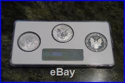 NGC 70 2006 American Silver Eagle 20th Anniversary Set 3-pc slab