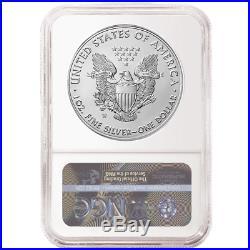 Presale 2020-W Burnished $1 American Silver Eagle NGC MS70 Blue ER Label