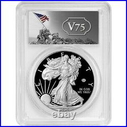 Presale 2020-W Proof American Silver Eagle World War II 75th PCGS PR70DCAM FS