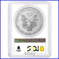 Presale 2021 $1 American Silver Eagle 3pc. Set PCGS MS70 FDOI Flag Label Red W