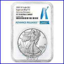 Presale 2021-W Proof $1 Type 2 American Silver Eagle NGC PF70UC AR Advance Rel