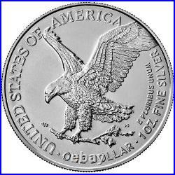 Presale Lot of 5 2021 $1 Type 2 American Silver Eagle 1oz Brilliant Uncircul