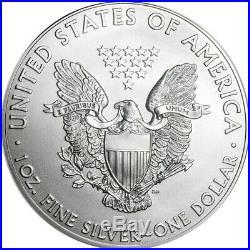 Roll Of 20 2014 $1 Silver American Eagles 1 oz Coins BU