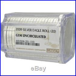 Roll of 20 2009 American Silver Eagle NGC Gem Uncirculated