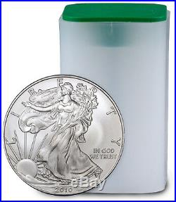 Roll of 20 2010 1 Troy oz. 999 Fine Silver American Eagle $1 Coins SKU21812