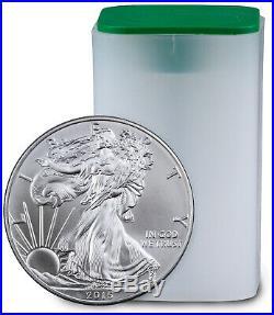Roll of 20 2015 1 Troy Oz. 999 Fine Silver American Eagle $1 BU Coins SKU33772