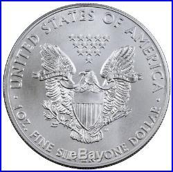 Roll of 20 2015 1 oz. 999 Fine Silver American Eagle $1 BU Coins SKU33772