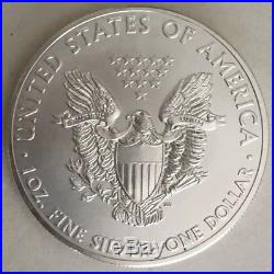 Roll of 20 2015 1 oz Silver American Eagle $1 Coin BU (Lot, Tube of 20)