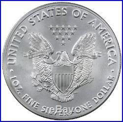 Roll of 20 2016 1 Troy oz. 999 Fine American Silver Eagle BU Coin SKU38287