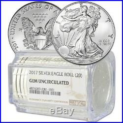 Roll of 20 2017 American Silver Eagle NGC Gem Uncirculated