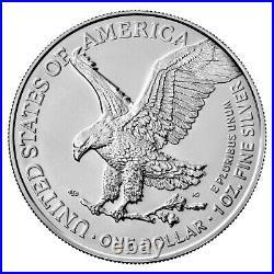 Roll of 20 2021 American 1 oz Silver Eagle T-2 GEM BU PRESALE