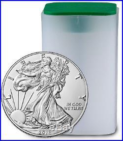 Roll of 20 Coins 2018 American Silver Eagle $1 GEM BU Coin PRESALE SKU51559