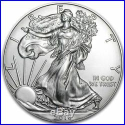 Roll of 20 Silver American Eagle 1oz. 999 US Mint American Eagles $1 BU Coins