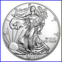SPECIAL PRICE! 2018 1 oz Silver American Eagle BU (Lot of 100, Five Tubes/Rolls)