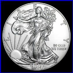 SPECIAL PRICE! 2019 1 oz Silver American Eagle BU Lot of 100 SKU #194102