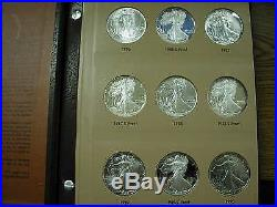 Silver Eagle 55 Coin Collection 1986-2011 UNC with proof P-S-W & Burnished