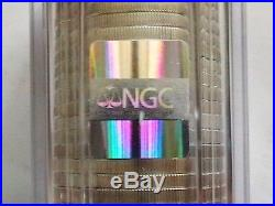 TWO ROLLS OF TWENTY 1996 American Silver Eagle Coins NGC GEM UNC 40 Coins TOTAL