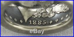 Top Qualitysize 111885-o Morgan Dollar 90% Silver Coin Ring24k Golden Eagle