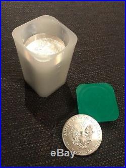 Tube of 20 x 1oz American Eagle Silver Coin