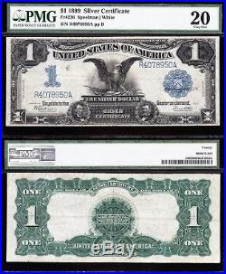 VERY NICE Bold & Crisp VF 1899 $1 BLACK EAGLE Silver Cert! PMG 20! R4078950A