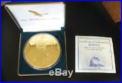Washington Mint 8oz 999 Fine Silver Gold Half-Pound Silver Eagle 2005 Box & COA